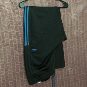 Black and Blue Adidas Track Pants